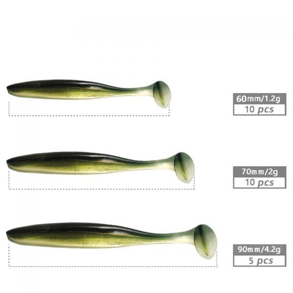 خرید لوازم ماهیگیری 10pcs/Lot Silicone Soft Lures Fishing Bait 1.2g 2g Sea Fishing Bass Pike Swimbait Wobblers Artificial Tackle