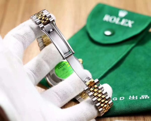 خرید ساعت مچی مردانه از علی اکسپرس 18K Gold dial Luxury Datejust- suit both man and women Automatic glide smooth second hand watch AAA watches 49