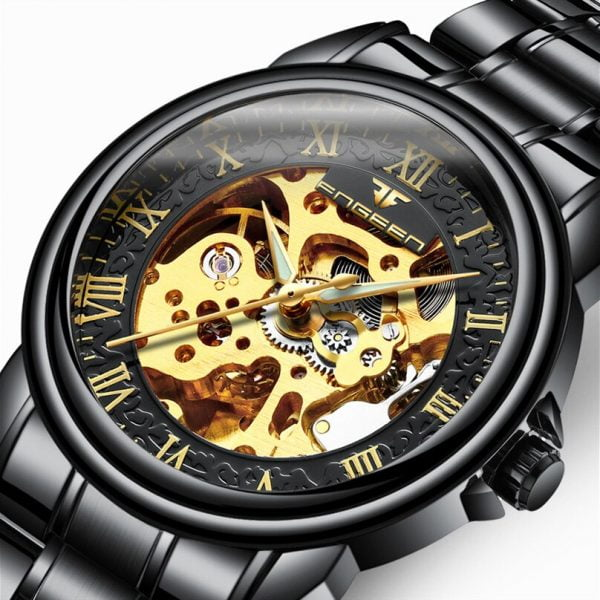 خرید ساعت مچی مردانه از علی اکسپرس 2020 Men Wristwatch Famous Brand Luxury Full Steel Mechanical Watches Tourbillon Male Automatic Watch Clock Relogio Masculino