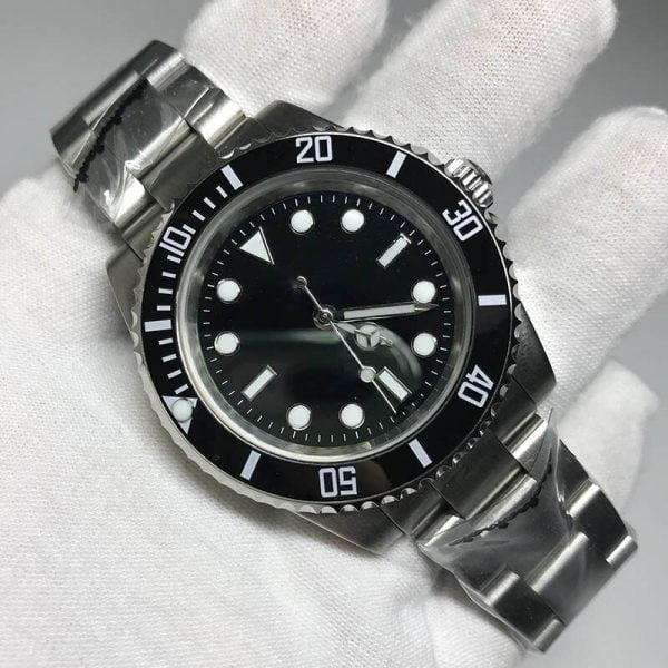 خرید ساعت مچی مردانه از علی اکسپرس AAA watch Men luxury automatic mechanical no date Watches Black sub-mariner AAA U1 factory