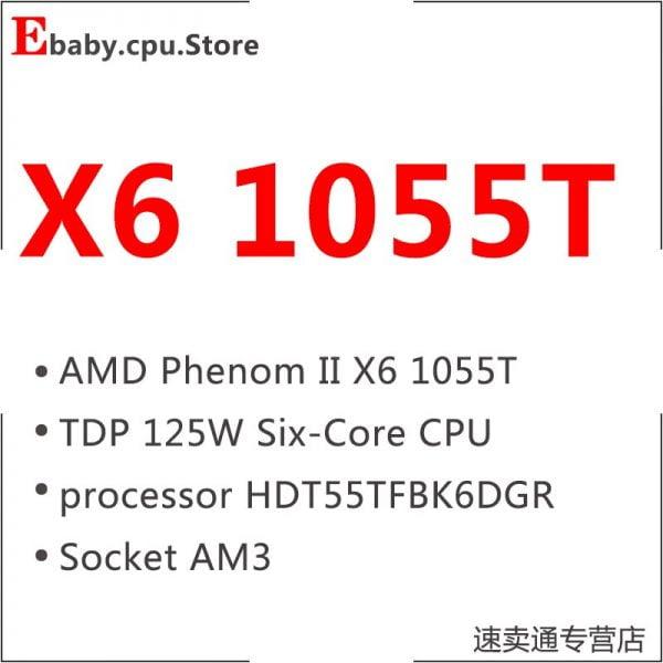 خرید سی پی یو از علی اکسپرس AMD Phenom II X6 1055T 1055 2.8G 125W Six-Core CPU processor HDT55TFBK6DGR Socket AM3