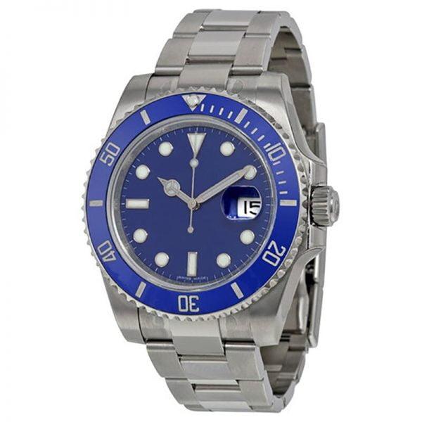 خرید ساعت مچی مردانه از علی اکسپرس Blue AAA watch Men luxury ceramic bezel sapphire glass automatic mechanical Watches Black sub-mariner glide smooth second hand