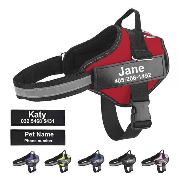 خرید مهار سگ از علی اکسپرس Dog Harness NO PULL Reflective Breathable Adjustable Pet Harness For Dog Vest ID Custom Patch Outdoor Walking Dog Supplies