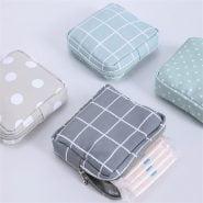 خرید کیف زنانه از علی اکسپرس Fashion Women Small Cosmetic Bags Travel Mini Sanitary Napkins Make Up Coin Money Card Lipstick Storage Pouch Purse Bags