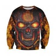 خرید هودی از علی اکسپرس Lava Skull Firefighter 3D All Over Printed Hoodie Men Women Fashion Casual Zip Jacket Autumn Winter Hip-hop Sweatshirt