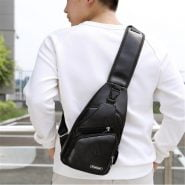 خرید کیف مردانه از علی اکسپرس Male Shoulder Bag USB Charging Crossbody Chest Bag For Men Anti Theft Chest Waist Pack Trip Messenger Bags Single Strap Back Bag