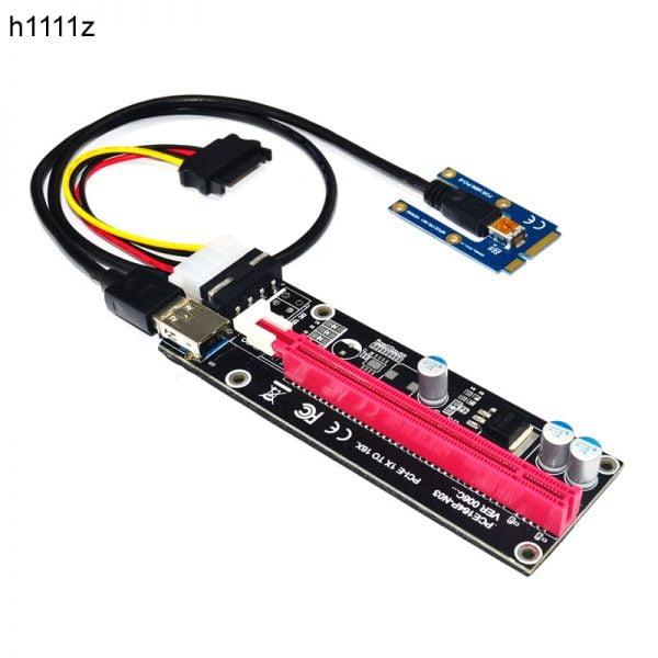 خرید کارت گرافیک اکسترنال لپ تاپ Mini PCIe to PCI express 16X Riser for Laptop External Graphics Card EXP GDC BTC Antminer Miner mPCIe to PCI-e slot Mining Card