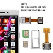 کابل توسعه New DIY Practical Universal TF Hybrid Sim Slot Dual SIM Extender Card Adapter Micro SD Extender Nano Cato Android Phone