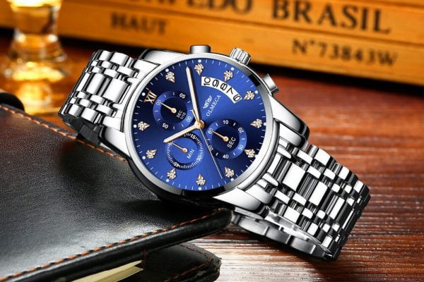 خرید ساعت مچی مردانه از علی اکسپرس OLMECA Men's Watches Top Luxury Brand Fashion Quartz Men Watch Waterproof Chronograph Business Wristwatch Relogio 2020 New