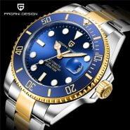 خرید ساعت مچی مردانه از علی اکسپرس PAGANI Design Top Brand Luxury Men Watches Gold Mechanical Stainless Steel Sapphire Glass Sport Waterproof 100M Clock PD-1639
