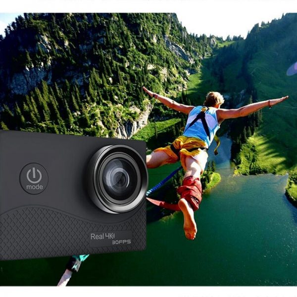 خرید دوربین ورزشی از علی اکسپرس Q6H Ultra HD 4K Action Camera 2 Inch TFFT Contact Sn WIFI Waterproof DVR Built-In Double ISP 30Fps 1050MAh Battery 1080Pm