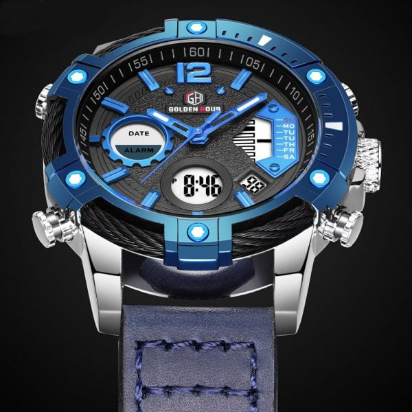 خرید ساعت مچی مردانه از علی اکسپرس Relogio Masculino Blue Men Watch Top Brand Luxury Fashion Military Quartz Mens Watches Waterproof Sports Men's Wristwatches Gift
