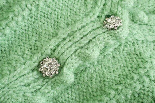 خرید لباس گرم زنانه از علی اکسپرس Toppies 2020 Autumn Winter Green Cardigans Women Knitted Jacket Dot Lantern Sleeve Cardigan Sweater