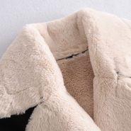 خرید کت زنانه از علی اکسپرس Toppies Winter Faux Fur Jacket Coat Women Black Faux Leather Parkas Fleece Thick Warm Outwear Belt