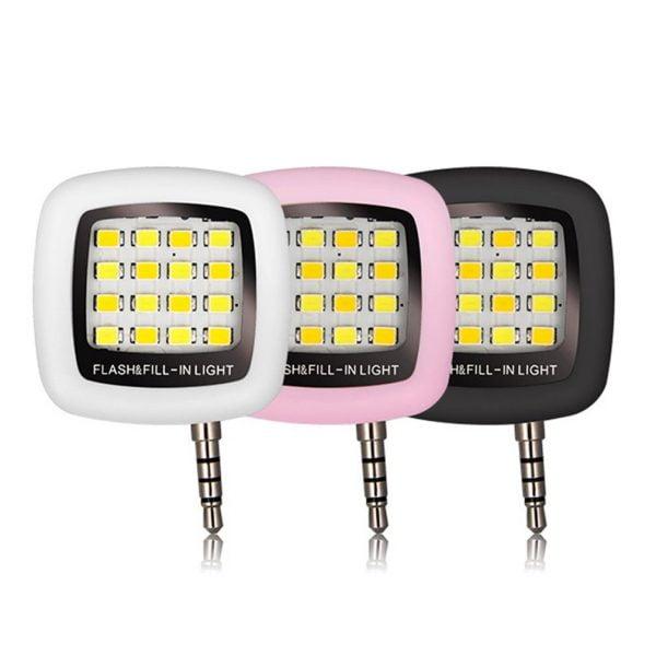 فلش دوربین سلفی Universal Selfie LED Ring Flash Light Portable Mobile Phone 36 LEDS Selfie Lamp Luminous Ring Clip For iPhone 8 7 6 Plus Samsung