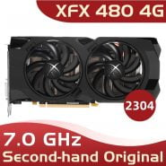 خرید کارت گرافیک Used original XFX RX 480 4GB 256bit GDDR5 pc gaming graphics cards video card 480 4g 570 4gb xfx rx 480 4g xfx rx 480 4 gb