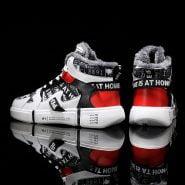 خرید کفش زمستانی از علی اکسپرس Winter Men Casual Shoes Mens Boots Warm Lining Fur Running Shoes Men Lace Up Sport shoes Ankle Boots Zapatillas Hombre Sneakers