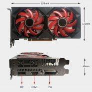 خرید کارت گرافیک XFX RX 560 4GB GDDR5 Graphics Cards for AMD RX 500 series VGA Video Card RX560-4GB RX560 RX564 4G HDMI DVI 7000MHz PCI 3.0 Used