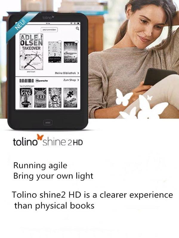 خرید کتابخوان از علی اکسپرس ereader eBook eReader Built in Light e-Book Reader WiFi ebook Tolino Shine2 HD e-ink 6 inch Touch Screen 1024×1448 300ppi