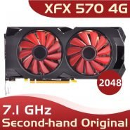 خرید کارت گرافیک used xfx 570 4g 256bit GDDR5 desktop xfx graphics cards video card amd rx 570 4gb rx 570 radeon rx 570 video card 4gb