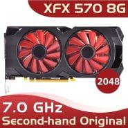خرید کارت گرافیک از علی اکسپرس xfx rx 570 8g 8GB256Bit GDDR5 used graphics cards RX570 Used rx 570 8 gb видеокарты для пк 4 гб rx 570 8 rx 470 4 rx 570 rx 580