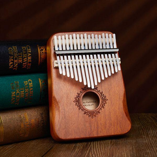 17 Keys Kalimba Thumb Piano High Quality Wood Mahogany Mbira Body Musical Instruments With Learning Book Kalimba Piano