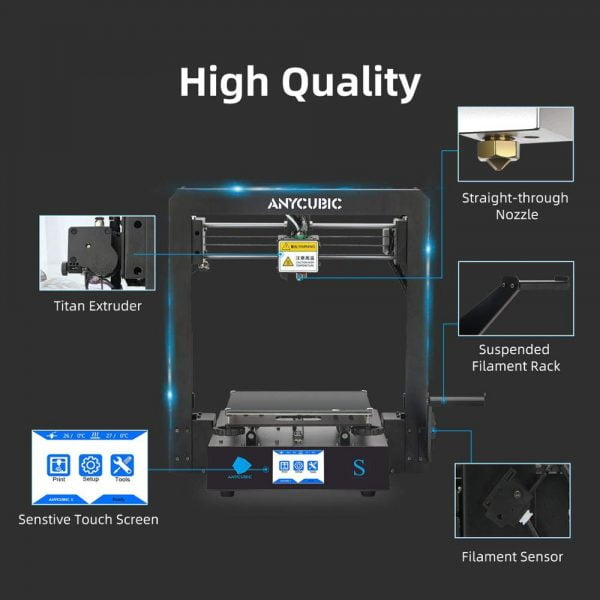 خرید پرینتر سه بعدی ANYCUBIC Mega-S Mega S 3D Printer I3 Mega Upgrade Large Size