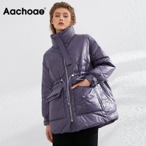 Aachoae-Pure-Winter-Lightweight-Down-Jacket-Women-Thick-Warm-Batwing-Long-Sleeve-Loose-Doudoune-Pocket-Ultra
