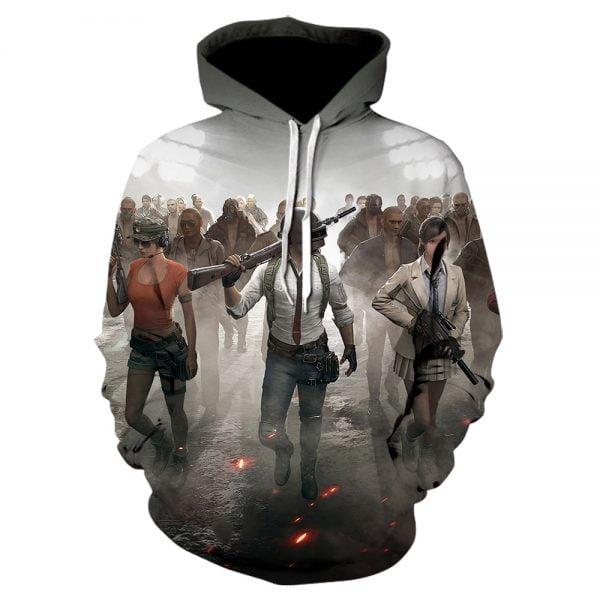 خرید هودی طرح پابجی Aikooki New PUBG 3D Hoodies Men/women Fashion Hot Game Playerunknown's Battlegrounds PUBG 3D Print Men's Hoodies and Sweatshirt