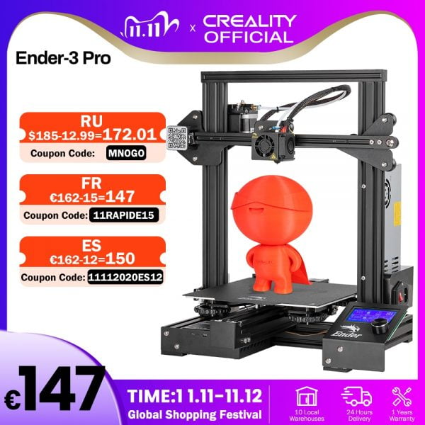 خرید پرینتر سه بعدی از علی اکسپرس CREALITY 3D Ender-3 Pro