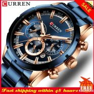 خرید ساعت مچی مردانه Casual Men Watch CURREN Fashion Mens Watches