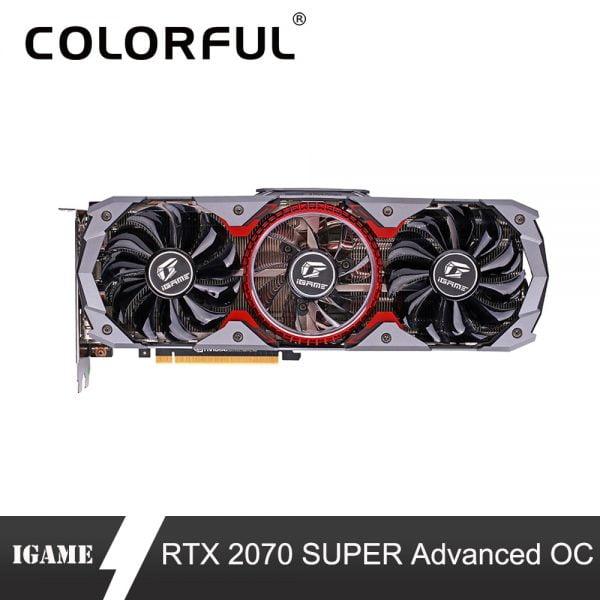 خرید کارت گرافیک گیمینگ Colorful GeForce RTX 2070 SUPER Graphic Card Advanced OC GPU GDDR6 8G iGame Video Card 1605/1770Mhz Support SLI