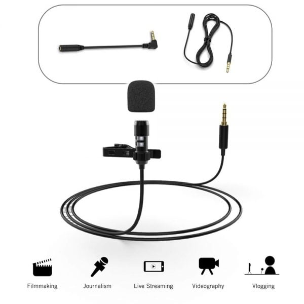 خرید میکروفون FIFINE Lavalier Lapel Microphone for Cell Phone DSLR Camera