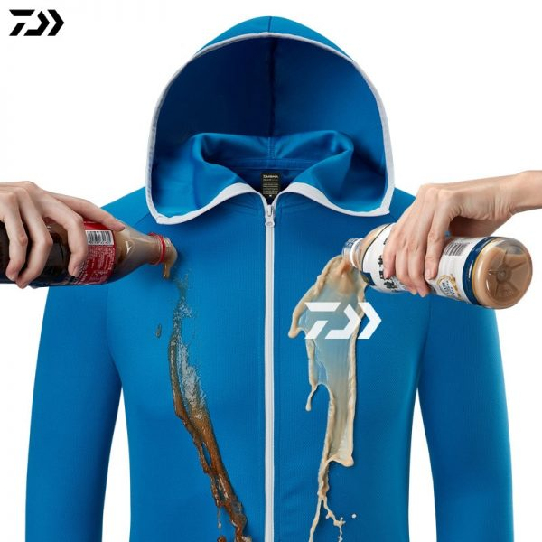 خرید لباس غواصی از علی اکسپرس Fishing Shirt Breathable Fishing Clothing Men Waterproof Fishing Shirts Long