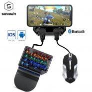 خرید گیم پد پابجی Gamepad Pubg Mobile Bluetooth 5.0 Android PUBG Controller Mobile Controller Gaming Keyboard Mouse Converter For IOS iPad to PC