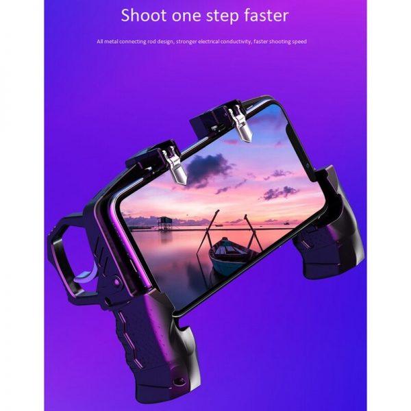 گیم پد پابجی Gaming Controller Metal Controller Joystick for Pubg Mobile Trigger Gamepad for iPhone Android Phone Game