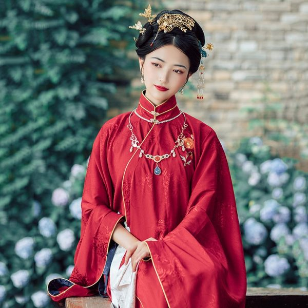 خرید لباس سنتی چینی از علی اکسپرس Hanfu Women Embroidery Festival Outfit Classical Dance Costume Oriental Rave