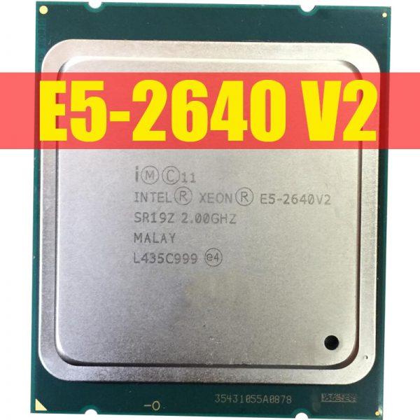 خرید سی پی یو سرور از علی اکسپرس Intel Xeon E5-2640 V2 CPU E5-2640V2 Eight Core CPU LGA2011 Server