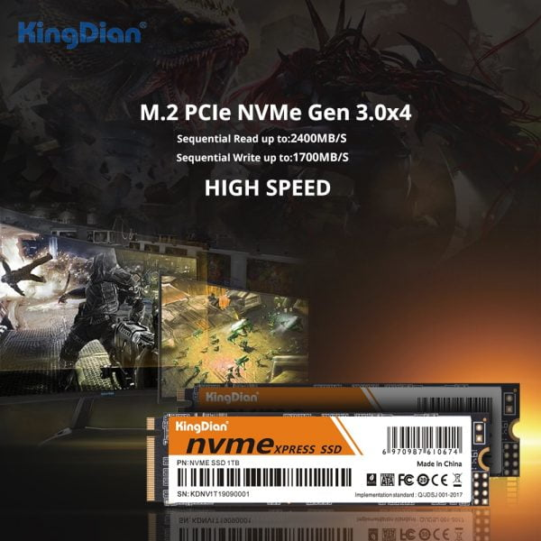 KingDian M2 SSD NVME SSD 128GB 256GB 512GB 1TB SSD M.2 2280 PCIE Internal Solid State Drive Hard Disk hdd for Laptop Desktop