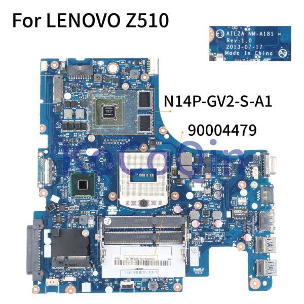 مادربرد لپ تاپ لنوو KoCoQin Laptop motherboard For LENOVO Z510 Mainboard