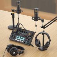 خرید تجهیزات تولید پادکست MAONOCASTER AM200 Microphone Mixer Digital Audio Interface