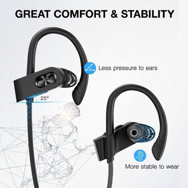 خرید ارفون از علی اکسپرس Mpow Flame 2 ipx7 Waterproof 13H Playback Bluetooth 5.0 Sports Earphone CVC6.0 Noise