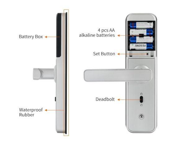 خرید قفل در با اثرانگشت New X5 Waterproof Tuya Biometric Fingerprint Lock, Security Intelligent Smart Lock With WiFi APP Password RFID