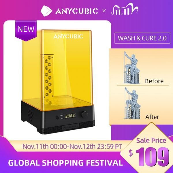 خرید لوازم پرینتر سه بعدی Newest ANYCUBIC Wash & Cure 2.0 For LCD 3D Printer