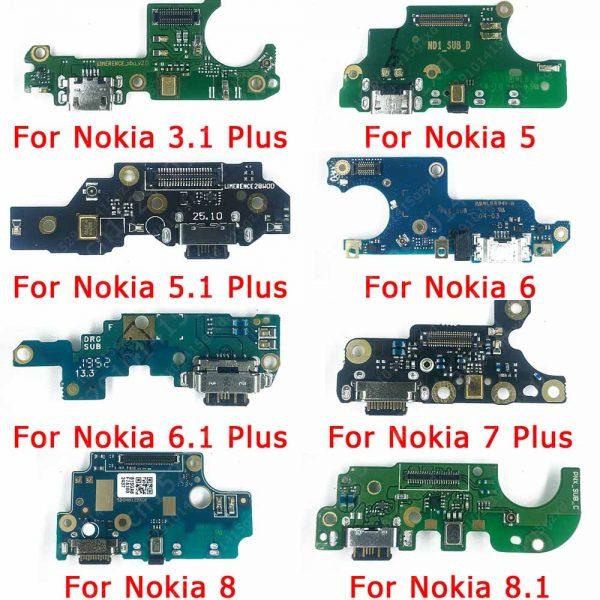 خرید برد شارژ نوکیا Original Charging Port For Nokia 3.1 5 5.1 6 6.1 7 Plus 8 8.1 Charge Board