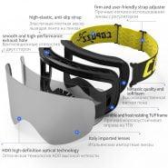 خرید عینک اسکی از علی اکسپرس Professional Ski Glasses Men Women Anti-fog Cylindrical Snow Skiing