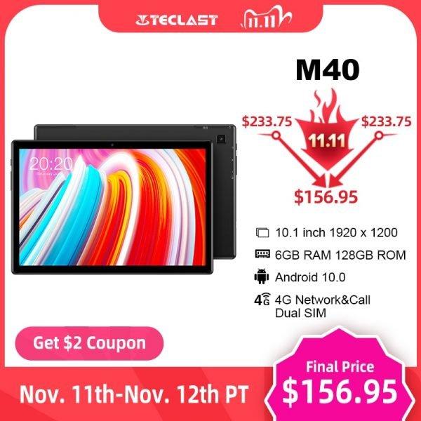 """خرید تبلت تکلست از علی اکسپرس Teclast M40 10.1"""" Tablet 1920×1200 4G Network UNISOC T618 Octa Core 6GB RAM 128GB ROM"""