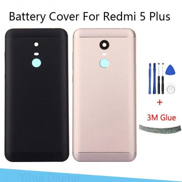 خرید درب پشت گوشی شیائومی ردمی 5 پلاس for Xiaomi Redmi 5 Plus Battery Back Cover Metal Rear Door