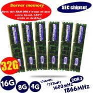 خرید رم سرور از علی اکسپرس چین original 8GB DDR3 1333MHz 1600Mhz 1866Mhz 8G 1333 1600 1866 REG ECC server memory
