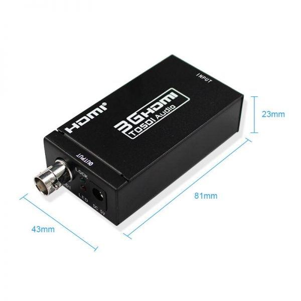 خرید تبدیل اچ دی ام آی از علی اکسپرس 3G HDMI to SDI Converter / SDI to HDMI Adapter Audio HD-SDI/3G-SDI
